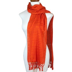 Cotton 'Citrus Fantasy' Scarf (Guatemala)