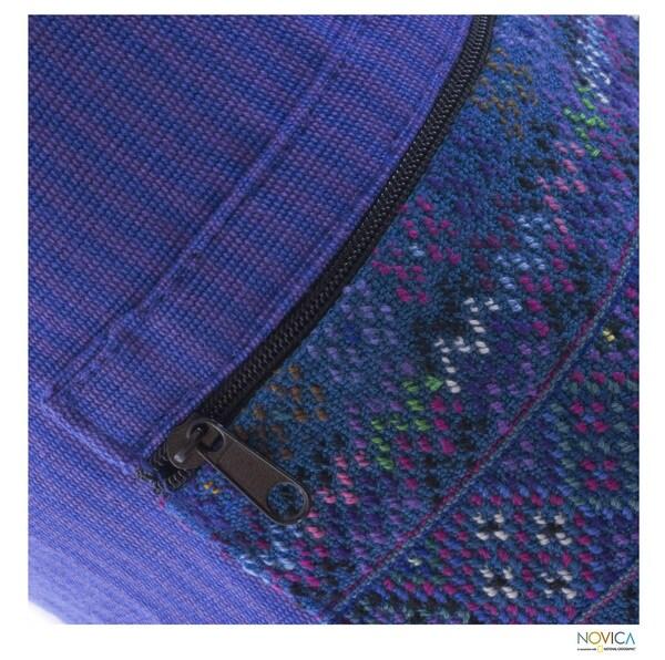 Handmade Cotton 'Lilac Huipil' Yoga Mat Bag (Guatemala)