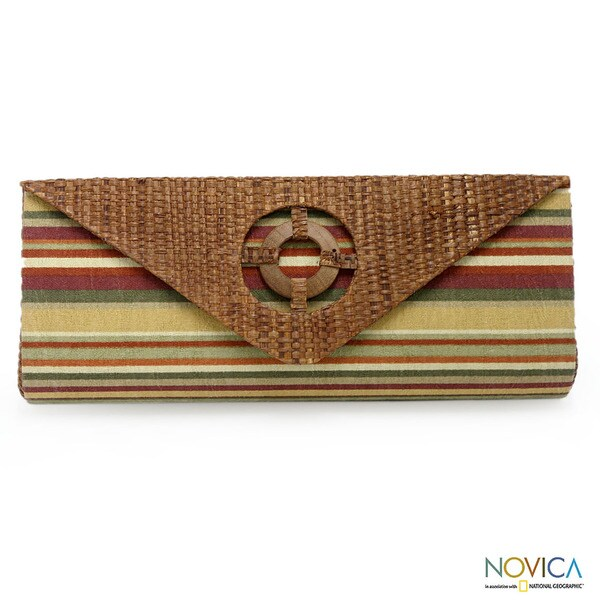 Buriti Palm 'Brazilian Sunset' Medium Clutch Handbag (Brazil)
