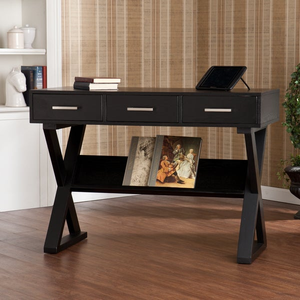 Upton Home Cressford Black Writing Office Desk