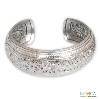 Sterling Silver 'Hill Tribe Ivy' Bracelet (Thailand)