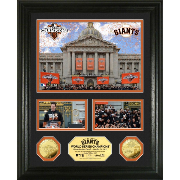 San Francisco Giants 2012 WS Parade Showcase Collection Gold Coin Photo Mint