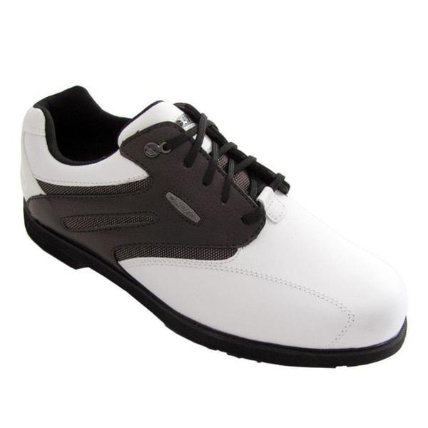 Hi-Tec Dri-Tec Classic White/Walnut Golf Shoes