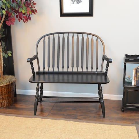 Winston Antique Black Bench