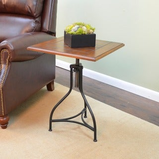 Morgan Chestnut/ Black Adjustable End Table