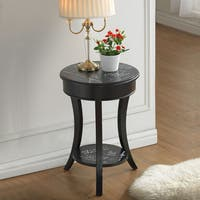 French Script Vintage Side Table