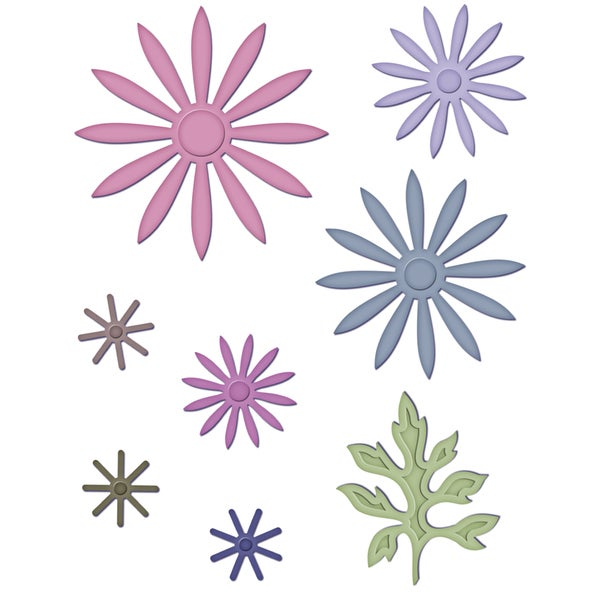 Heartfelt Creations Cut & Emboss Dies by Spellbinders-Delicate Asters