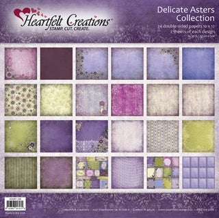 """Heartfelt Double-Sided Paper Collection 12""""X12"""" 48/Sheets-Delicate Asters, 24 Designs/2ea"""