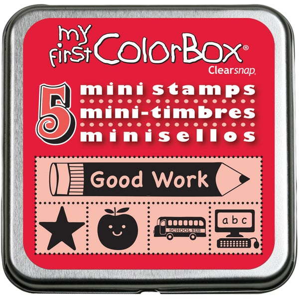 My First Colorbox Mini Stamps-School