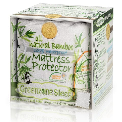 Rayon from Bamboo Jersey Waterproof Mattress Protector - White