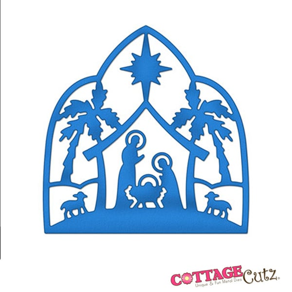 Cottagecutz die 4 quot x4 quot nativity silhouette made easy 14943617