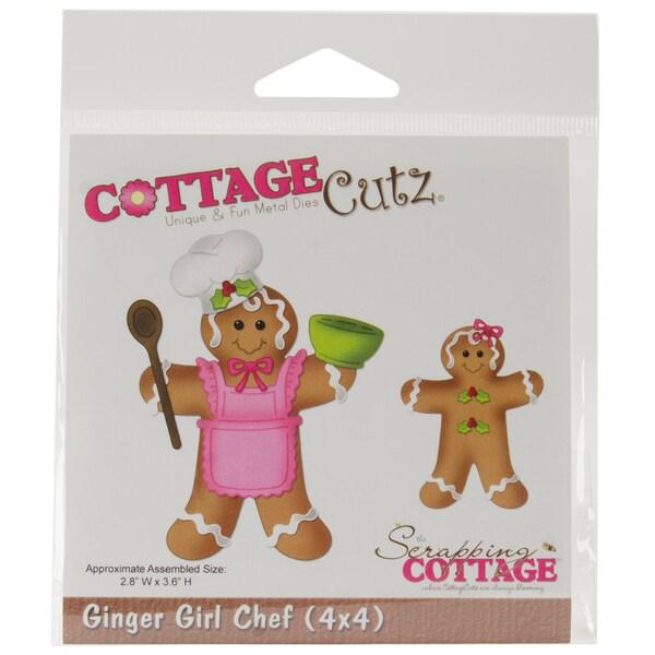 """CottageCutz Die 4""""X4""""-Ginger Girl Chef"""
