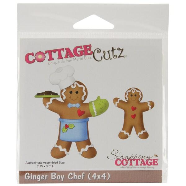 """CottageCutz Die 4""""X4""""-Ginger Boy Chef"""