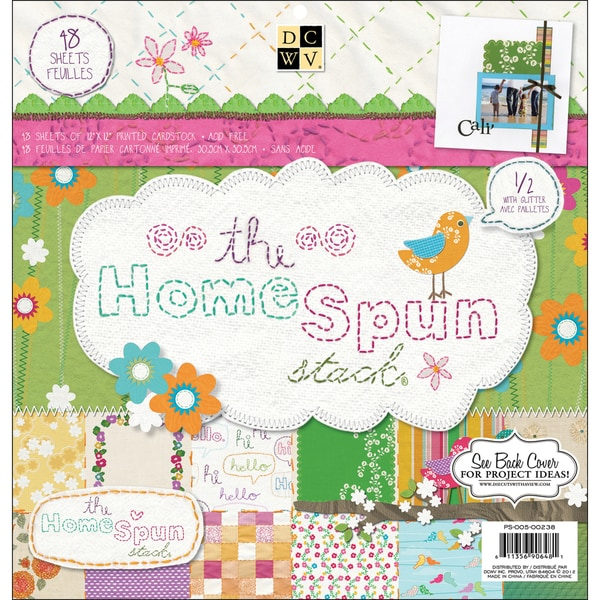 DCWV 'Homespun' 48-sheet Paper Stack (12x12)