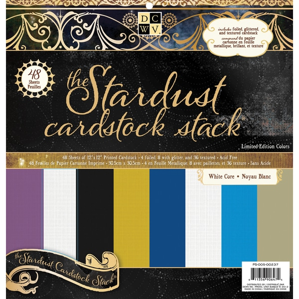 DCWV Stardust Solid 48-sheet Cardstock Stack (12x12)