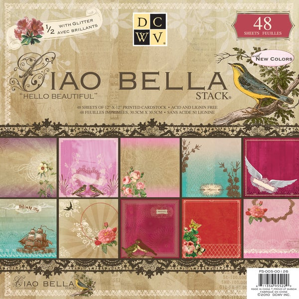 "Ciao Bella Paper Stack 12""X12""-48 Sheets"