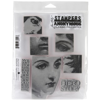 Tim Holtz Cling Rubber Stamp Set-Classics #5