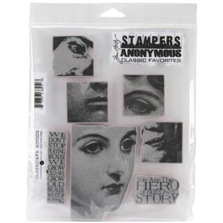 Tim Holtz Cling Rubber Stamp Set-Classics #5