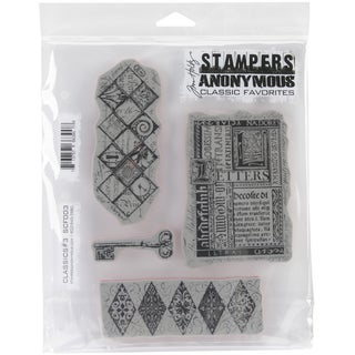 Tim Holtz Cling Rubber Stamp Set-Classics #3