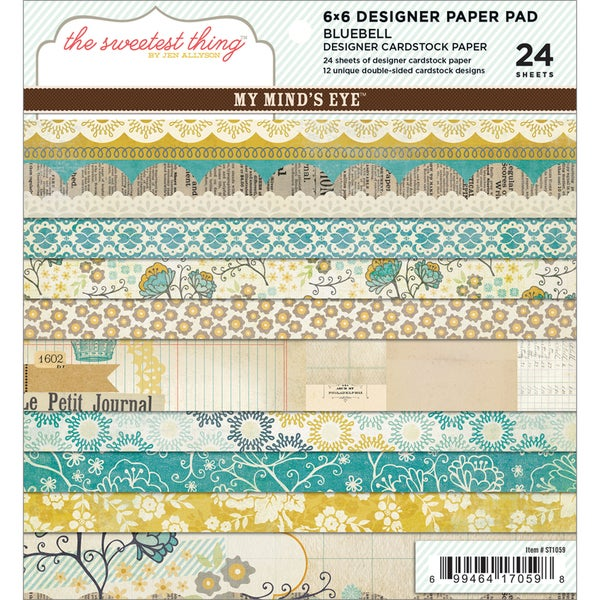 "The Sweetest Thing Bluebell Paper Pad 6""X6"" 24 Sheets-"