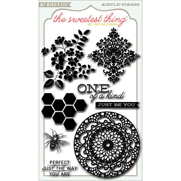 The Sweetest Thing Honey Clear Acrylic Stamps-Happiness