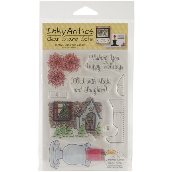 Honeypop Clear Stamp Set-Christmas Candle