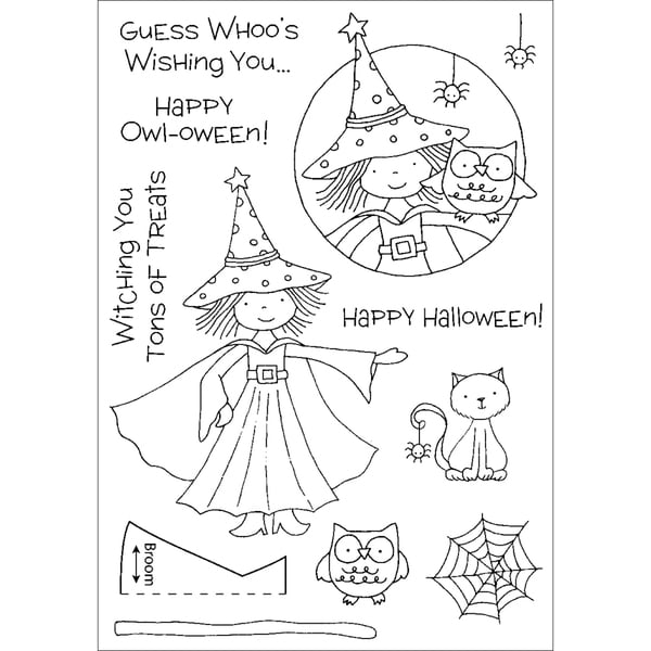 Honeypop Clear Stamp Set-Halloween Witch