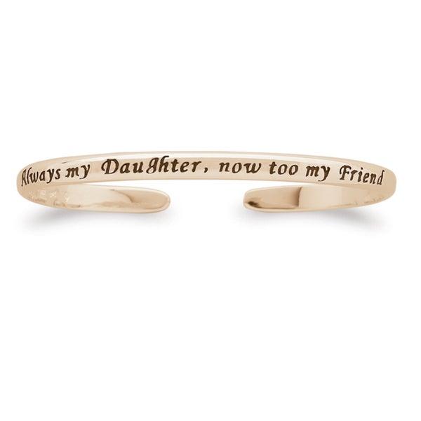 14k Gold over Silver 'Always My Daughter' Sentiment Bracelet