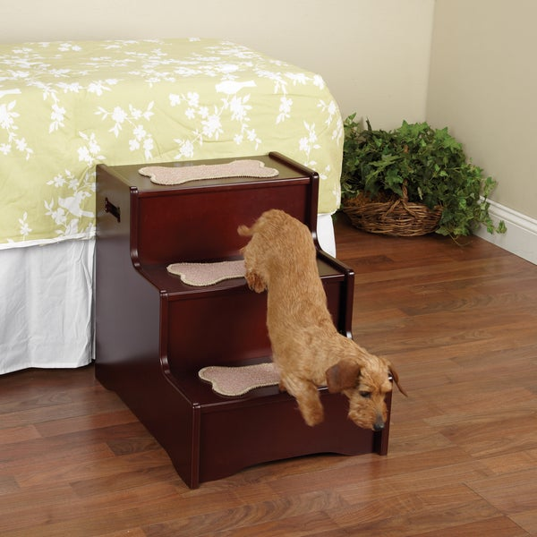 Pet Studio A Step Above Mahogany Pet Stairs