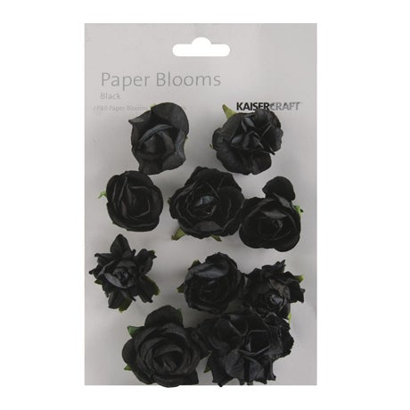 Paper Blooms 1in To 1.5in - 10/Pkg