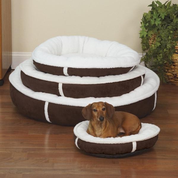 Slumber Pet Sherpa Chocolate Brown Donut Bed