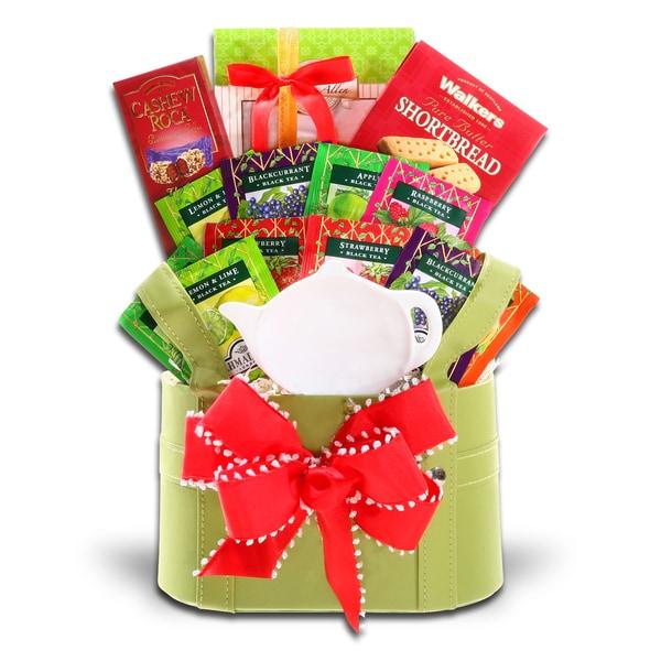 Alder Creek Gift Baskets Holiday Tea Time Gift Basket