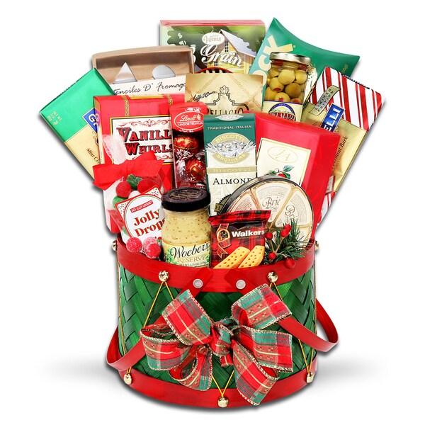 Alder Creek Gift Baskets Grand Holiday Drum Gift Basket