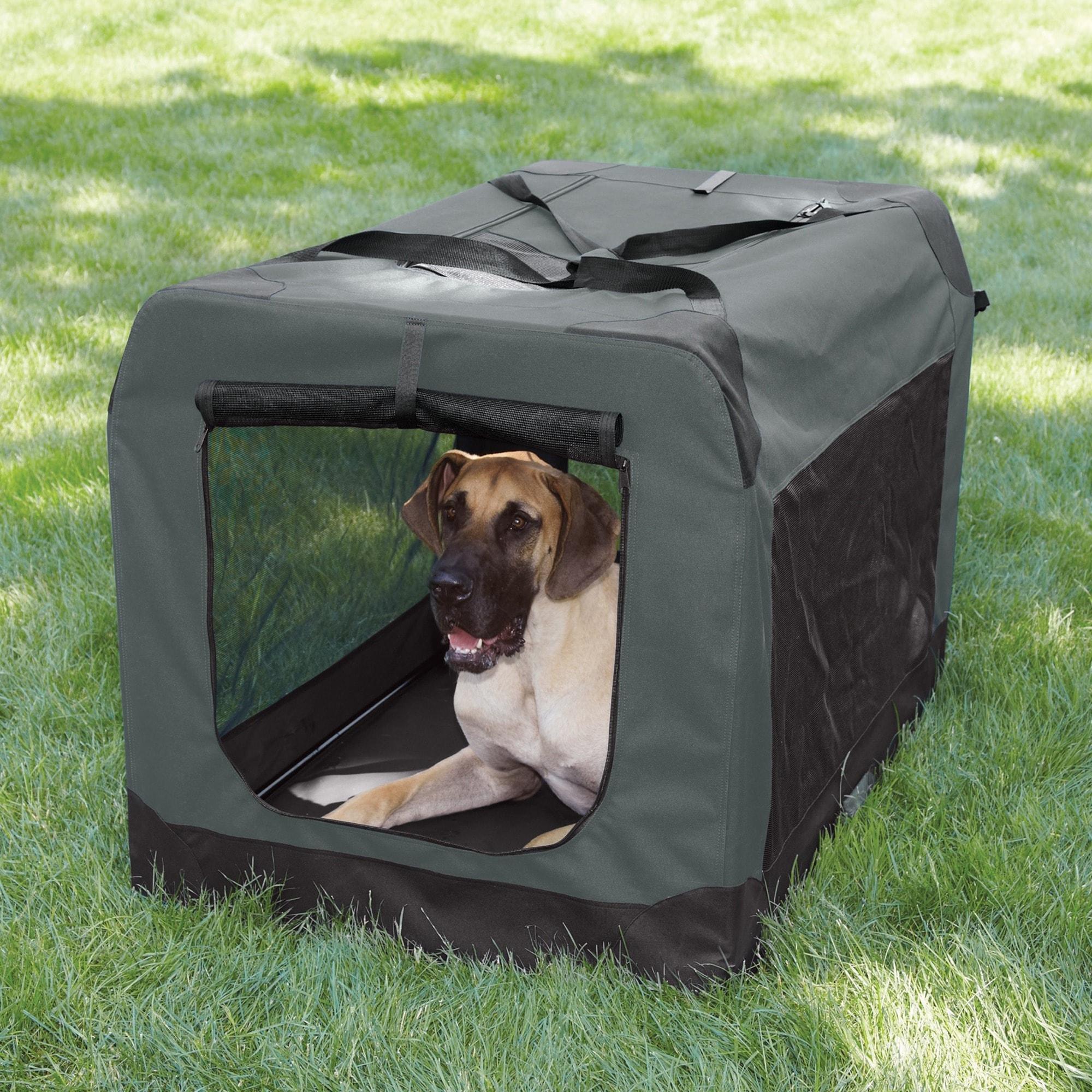 Guardian Gear Grey XL Soft Crate Pet Carrier (ZA41142), B...