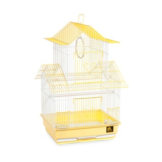 Prevue Pet Products Shanghai Yellow and White Parakeet Cage