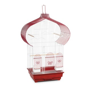 Prevue Pet Products Berry and White Casbah Cage