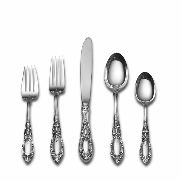 towle king richard 46piece sterling silver flatware set - Sterling Silver Flatware