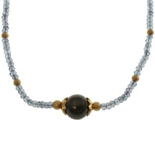 Michael Valitutti South Sea Pearl and Blue Quartz Necklace (12.5-13 mm)