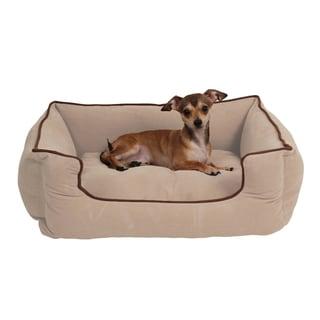 Carolina Pet Tan Microfiber Low Profile Kuddle Pet Bed Lounger