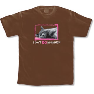 'I Don't Do Mornings!' Cat Lover's T-Shirt