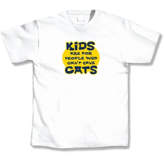 'Kids Are For People That Can't Have Cats' Cat Lover's T-Shirt