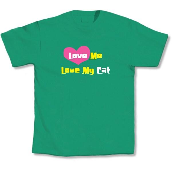 'Love Me, Love My Cat' Cat Lovers T-Shirt