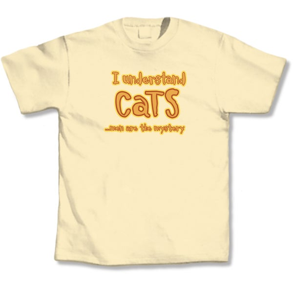 'I Understand Cats�Men Are The Mystery' Cat Lovers T-Shirt