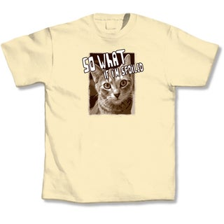 'So What If I'm Spoiled' Cat Lovers T-Shirt