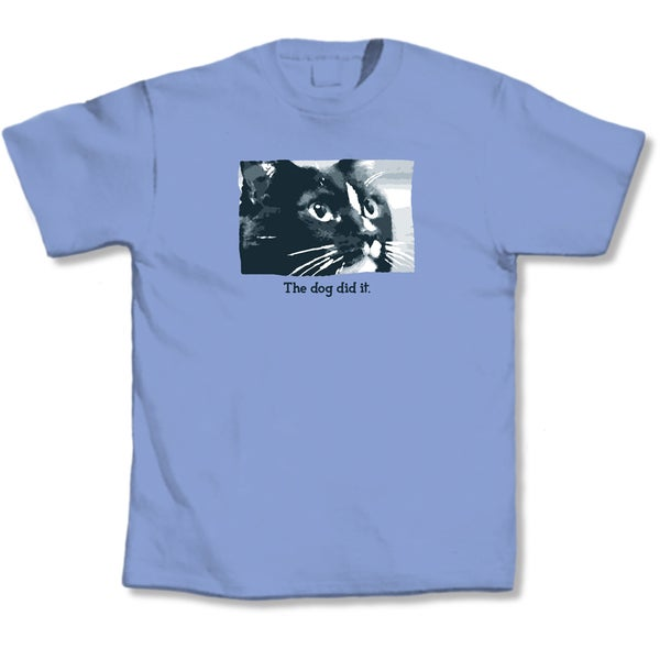 'The Dog Did It' Cat Lovers T-Shirt