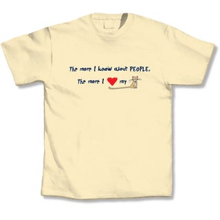 'The More I Know About People, The More I Love My Cat' Cat Lover's T-Shirt