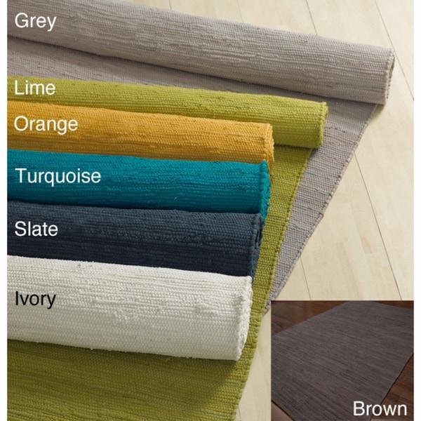nuLOOM Handmade Solid Flatweave Cotton Rug