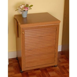 Arrow 'Sewnatra' Oak Finish Airlift Crafts & Sewing Machine Table Furniture Storage Cabinet