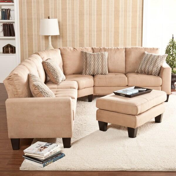 Harper Blvd Ascot Mocha 4-peice Sectional Sofa