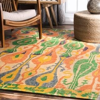 nuLOOM Ikat Natural Jute Rug (8' x 10')